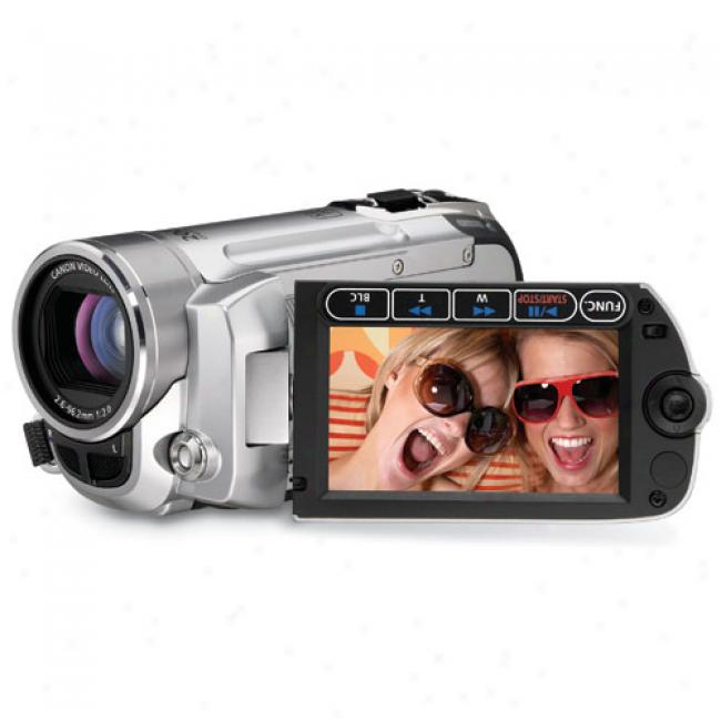 Cabon Fs10 Silver Digital Camcorder W/ 8 Gb Internal Flash Memory And 37x Optical Zoom