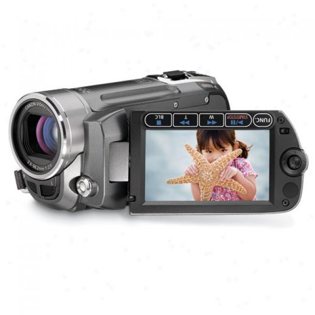 Canon Fs11 Grey Digital Flash Memory Camcorder W/ 16gb Internal Memory And 37x Optical Zoom, 48x Advanced Zoom