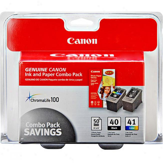 Canon Ink Cartridge Photo Paper Combo Pack W/ Pg-40/cl-41  &Gp502, 0615b009aa