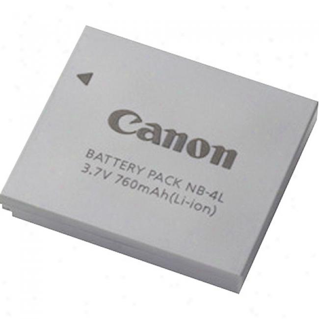 Canon Nb-4l Lithium Ion Battery Pack - 760mah