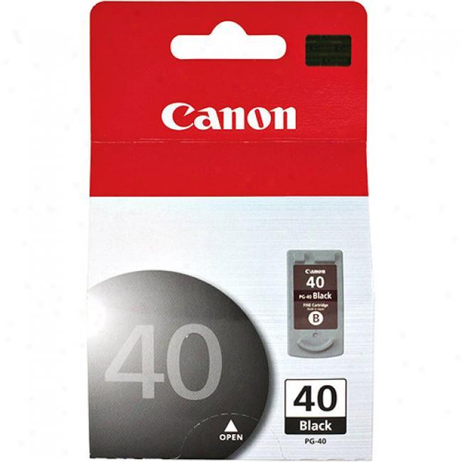 Canon Pg-40 Black Ink Tank, 0615b002
