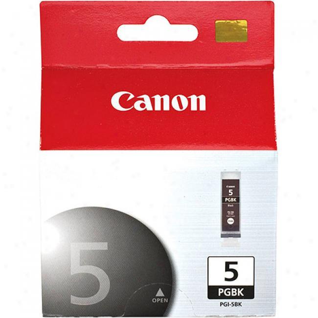 Canon Pgi-5bk Black Ink Cartridge, 0628b002