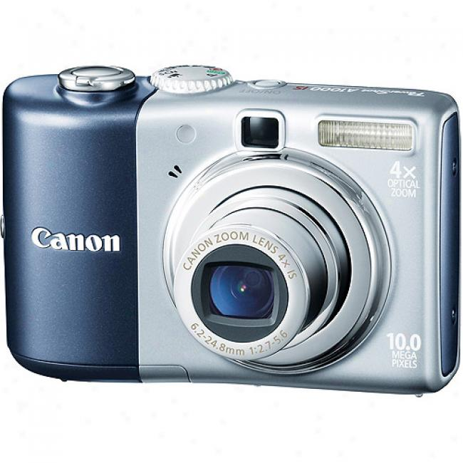 Canon Powershot A1000 10mp Blue Digital Camera With 4x Zoom