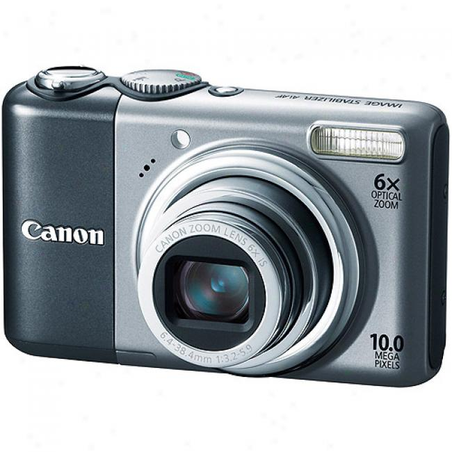 Canon Powershot A2000-is Silver ~ 10mp Digital Camera W/ 6x Optical Zoom
