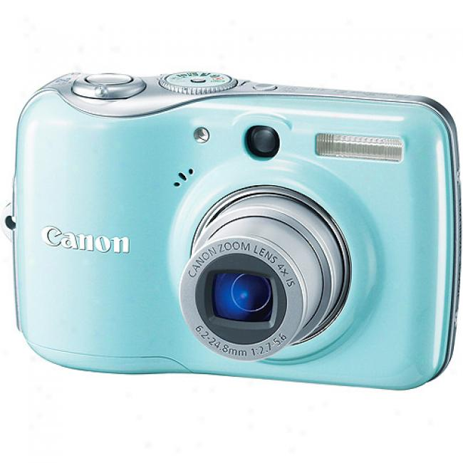 Canon Powershot E1 Blue 10mp Digotal Camera 4x Optical Zoom & 2.5