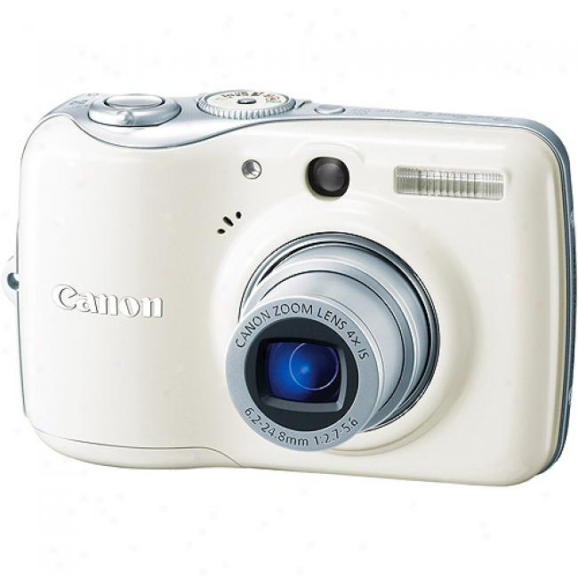 aCnon Powershot E1 White 10mp Digital Camera 4x Optical Zoom & 2.5