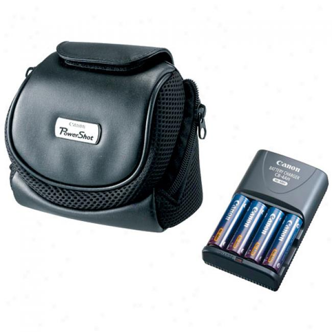 Canon Powershot S-series Accessory Kit W/ Case And Battery Charger