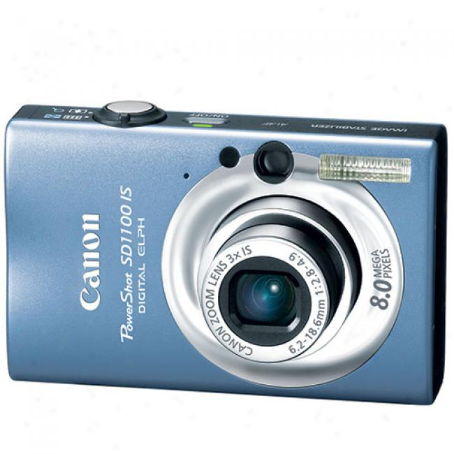 CanonP owershot Sd1100-is Blue ~ 8 Mp Digital Elph Camera W/ 3x Optical Zoom