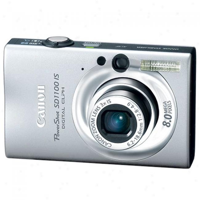Canon Powershot Sd1100-is Silver ~ 8 Mp Digital Elph Camera W/ 3x Optical Zoom