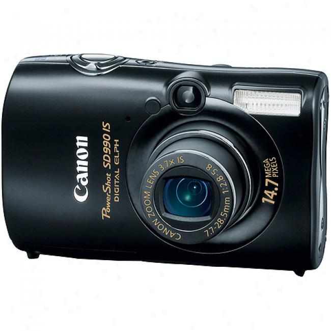 Canon Powershot Sd990-is Wicked 14.7mp Digital Camera 3.7x Optical Zoom & 2.5