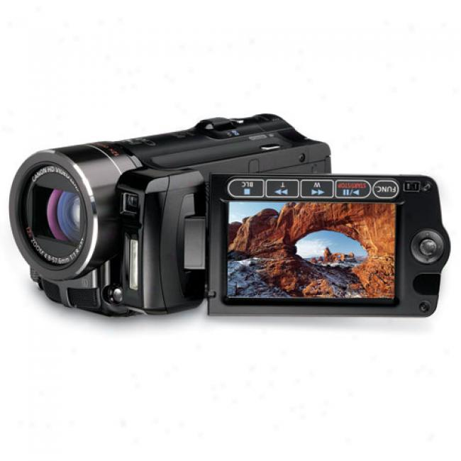 Canon Vixia Hf10 Black Hd Flash Digital Camcorder W/12x Optical Zoom, 16 Gb Internal Memory, Sd/sdhc Slot