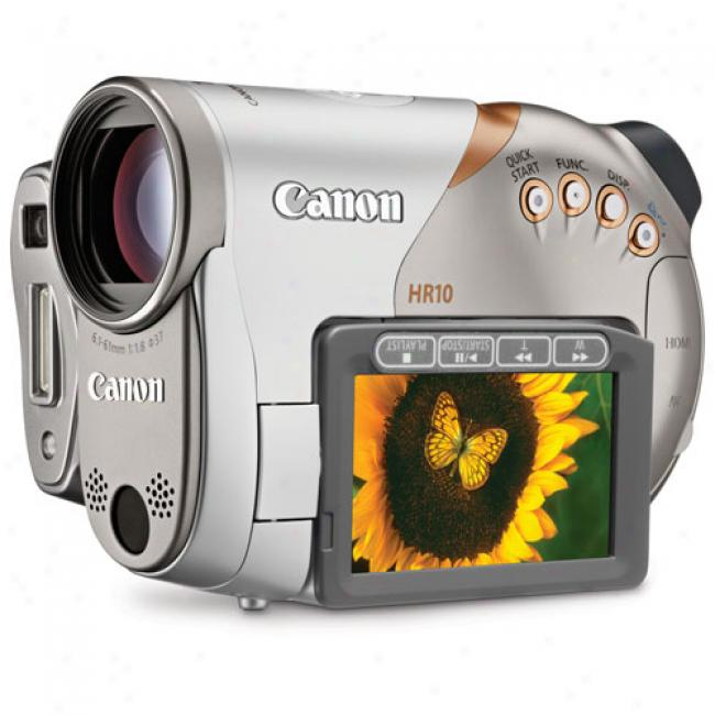 Canon Vixia Hr10 High Definition Dvd Camcorder, 10x Optical Zoom, Image Stabilization