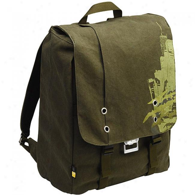 Case Logic Backpack Laptop Storage Canvas - Green