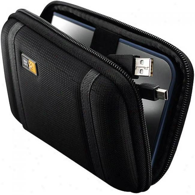 Case Logic Blac kCompact Portable Hard Drive Case