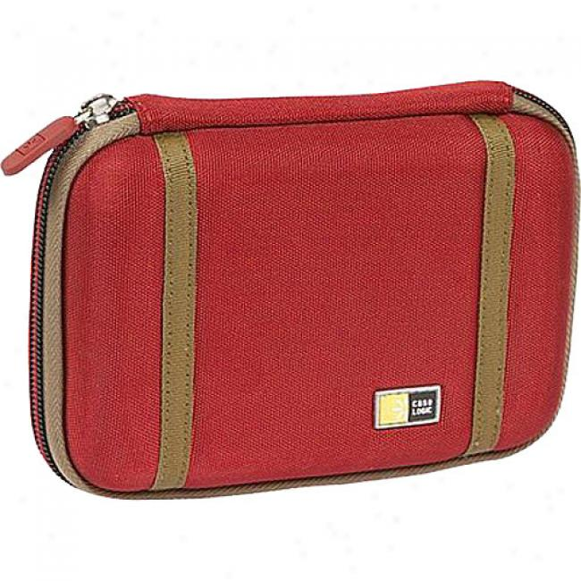 Case Logic Compact Portable Hard Drive Case, Red