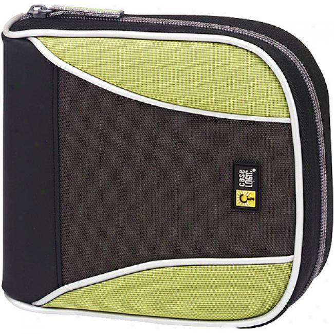 Case Logic Green 32-cd Nylon Sport Media Bag