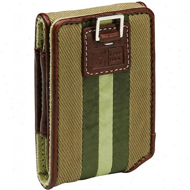 Case Logic Green Satin Stripe Case For Ipod Nano 3g, Inc-2 Green
