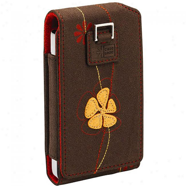 Case Logic Pop Flower Case For Ipod 80gb Classic, Icc-3a Brown