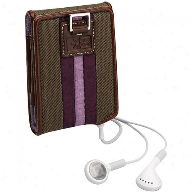 Case Loyic Purple Satin Stripe Case During Ipod Nano 3g, Inc-2 Purple