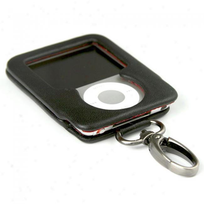 Case Mate Phantom Black Circumstance By the side of Dangle Clip For Ipod Nano 3g