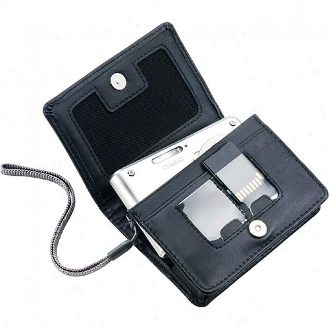 Casio Business-card Holder Leather Case For S, V And Z Series Exilim Digital Cameras