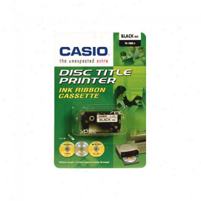 Casio Disc Title Writer Tape, Black
