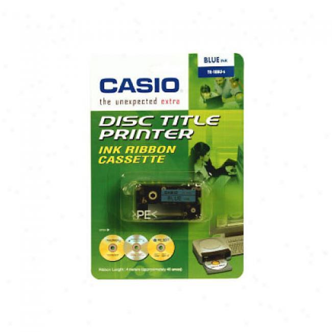 Casio Disc Title Writer Tape, Blue
