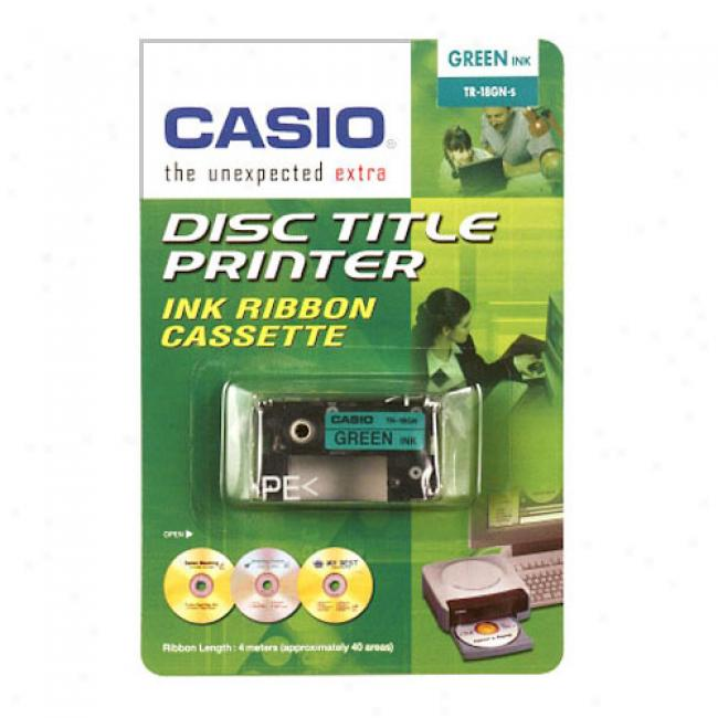 Cadio Disc Title Writer Tape, Green