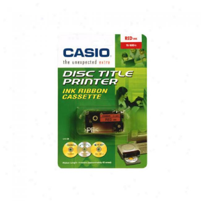 Casio Disc Title Writer Tape, Red