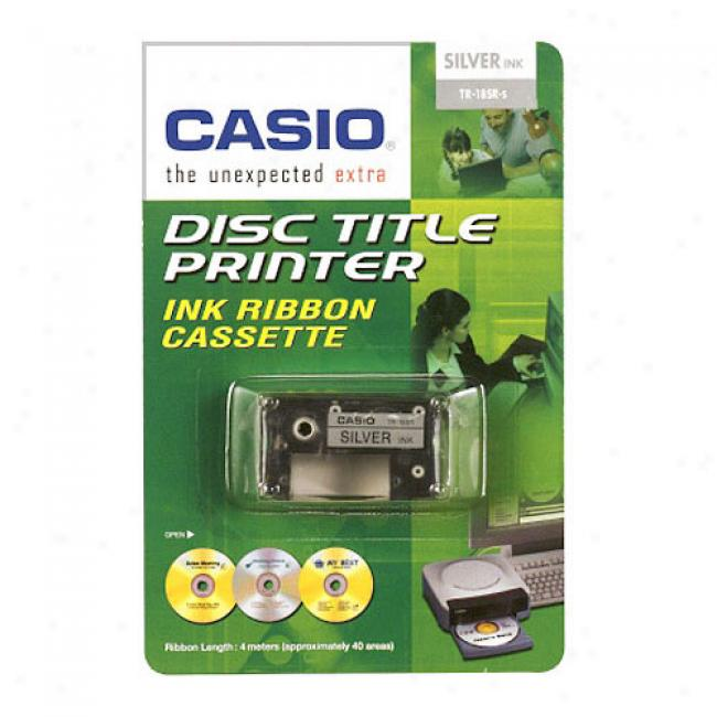 Casio Disc Title Writer Tape, Silver