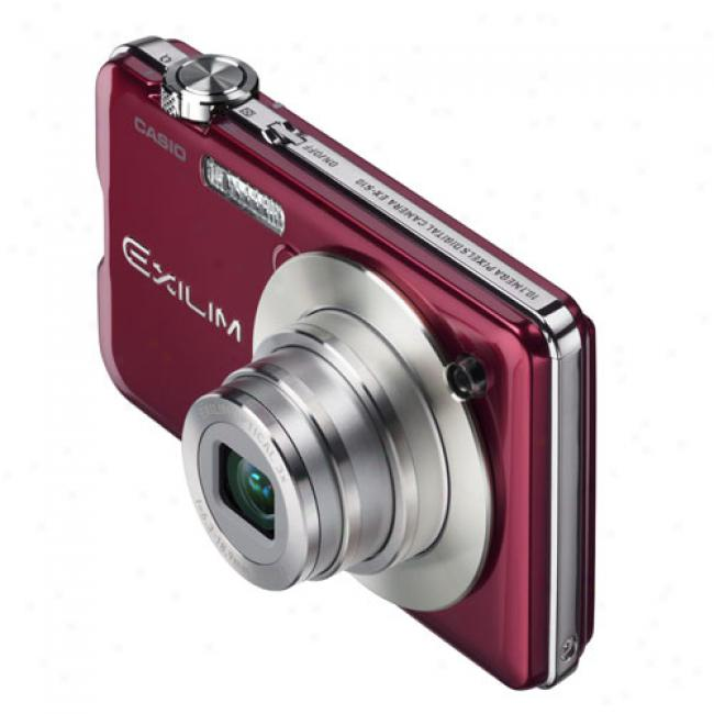Casio Exilim Ex-s10 Red 10.1 Mp Digital Camera With 3x Optical Zoom, Youtube Capture