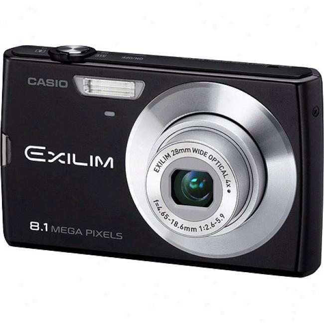 Casio Exilim Ex-z150 Black 8mp Digital Camera With 4x Optical Zoom, 3
