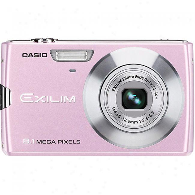 Casio Exilim Ex-z150 Pink 8mp Digital Camera With 4x Optical Zoom, 3