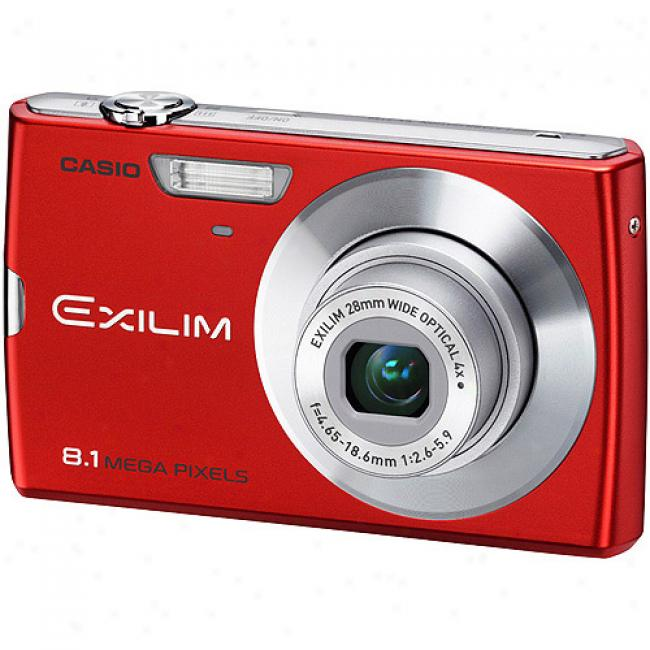 Casio Exilim Ex-z150 Red 8mp Digital Camera With 4x Optical Zoom, 3