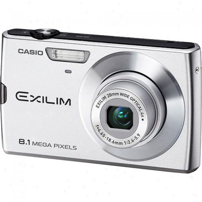 Casio Exilim Ex-z150 White 8mp Digital Camera With 4x Optical Zoom, 3