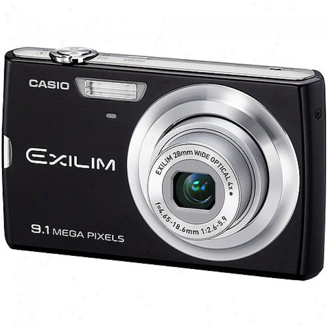 Czsio Exilim Ex-z250 Black 9.1mp Digital Camera With 4x Optical Zoom, 3