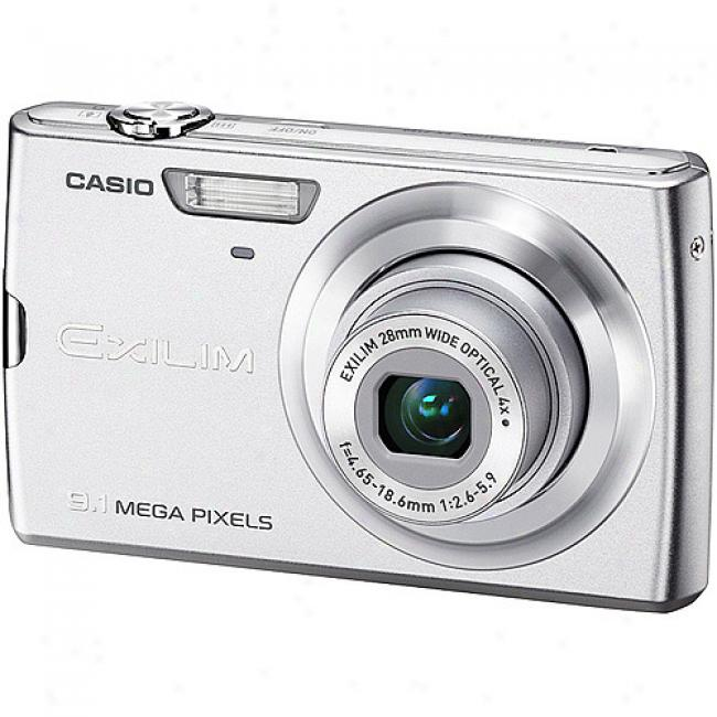 Casio Exilim Ex-z250 Silver 9.1mp Digital Camera With 4x Optical Zoom,
