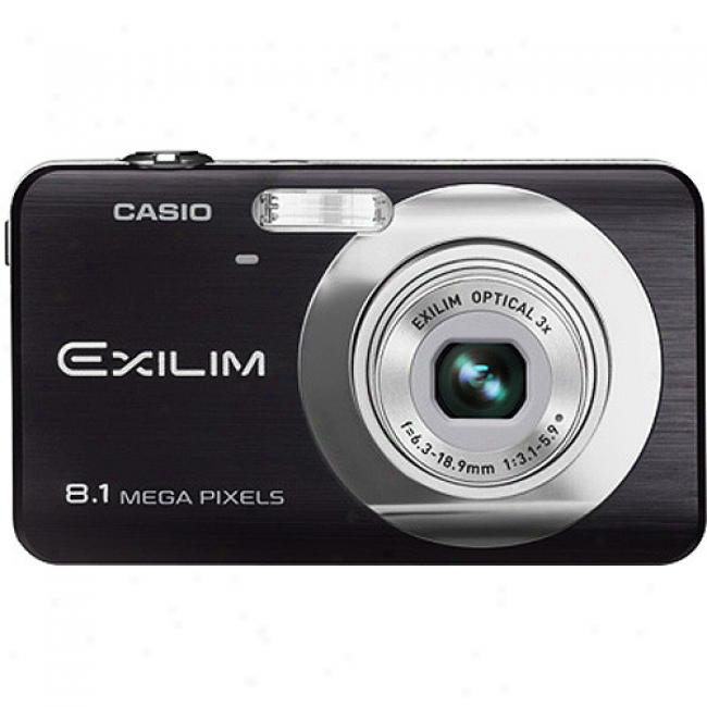 Casio Exilim Ex-z80 Black 8mp Digital Camera, W/ 3x Optical Zoom, 2.6