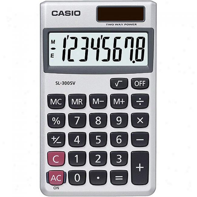 Casio Wallet Denominate Pocket Calcupator