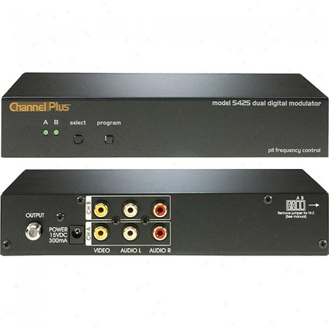 Channel Plus Two-channel Video/audio Rf Modulator