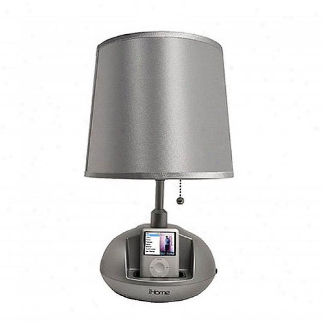 Checkolite Ihome Speaker Lamp - Silv3r