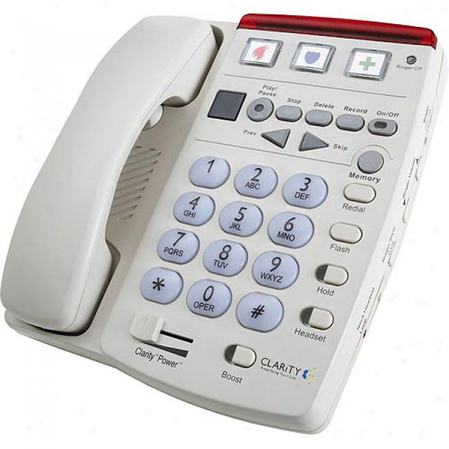 Clarity Amplified Corded Telephone With Answering Organization