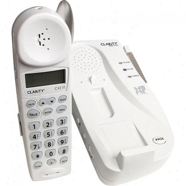 Clarity Amplified Cordless Telephone With Cailer Id And Call Waiting 2.4 Ghz
