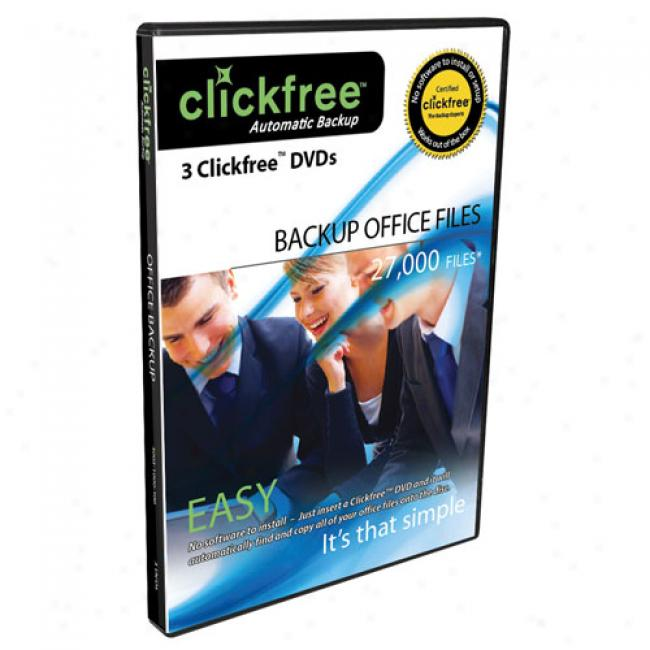 Clickfree 3 Pack Dvd+r Office Auto Back-up Disks