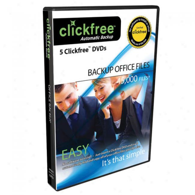 Clickfree 5-pack Dvd+r Office Auto Back-up Disks