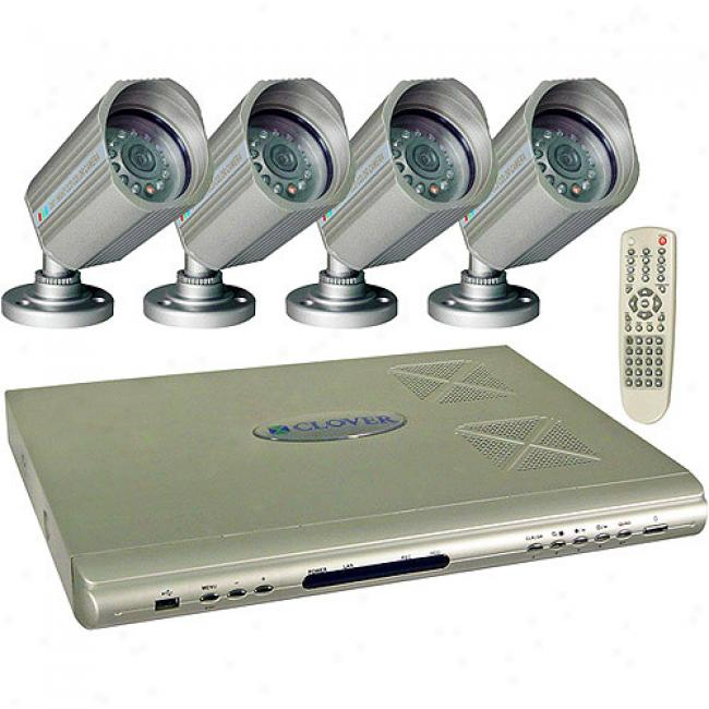 Clover Ip-ready 4 Channel Dvr Package With 4 Cameras
