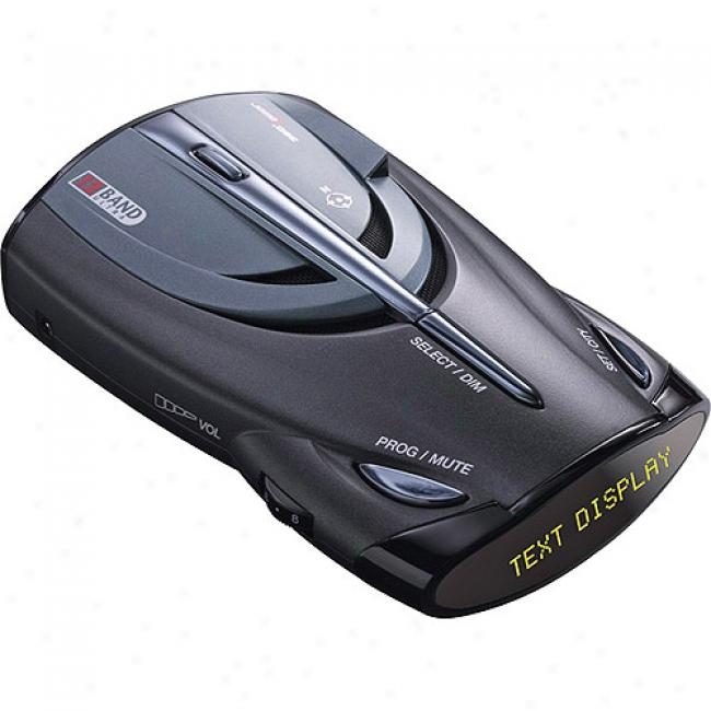 Cobra 12 Band Radar/laser Detector With Voice Alert And Radar Gun Pop Mode Detection