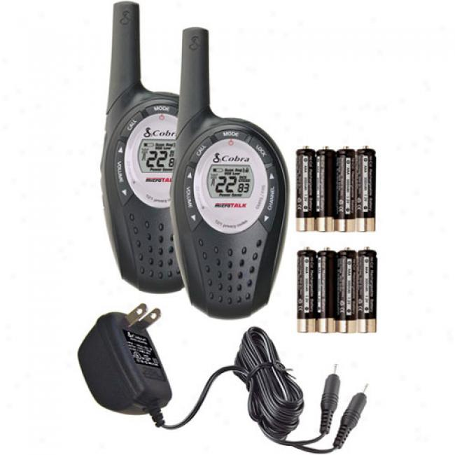 Cobra Gmrs 2-way Radio Value Pack With 14-mile Range