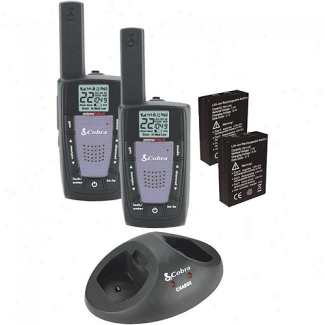 Cobra Gmrs/frs 2-way Radio Value Pack With 22-mile Raneg