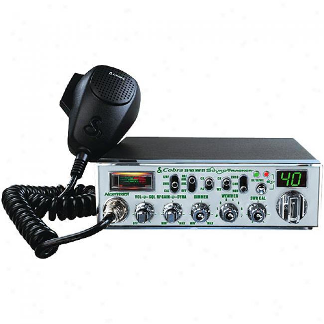 Cobra Mobile Cb Radio With Nightwatch Illuminated Display And Swr Antenna Calibration